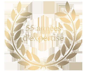 logo 55 année expérience